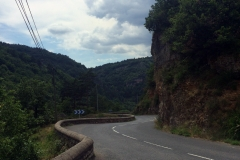 A view look back down today's 3rd climb..