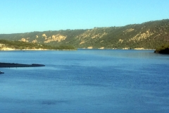 Lake from the river of the Verdon gorge