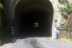 Our first tunnel beneath le chateaux de tournel