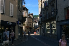 The small town of Figeac which we reached by 10, to stop off and buy provisions