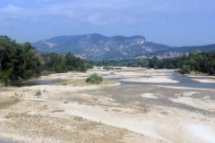 Dry river bed of the Durance