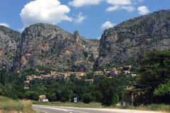 Village of  Moustiers-Sainte-Marie, our base for the night