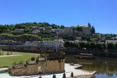 First view of the River Vezere, the valley we followed for today