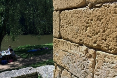 This photo shows the water marks reached when the river flooded in 1930 and even higher in 1843