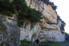 Caves of Roque Saint-Christophe that were first believed to be inhabited by Troglodytes for 55000 years up until 300 years ago
