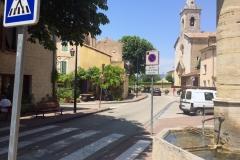 Villes-sur-Auzon village with our B&B entrance under the Wisteria