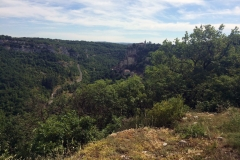 Rocamadour in the distance, one of the points along the French routes to Camino de Santiago.